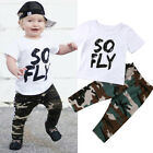 US Toddler Kids Baby Boys Top T-shirt Camouflage Pants Leggings Outfit Clothes