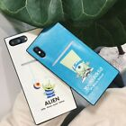 Luxury For iPhone X 7 8 6+ Rectangle Alien Mike Cases PU Leather Card Slot Cover