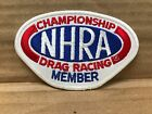 """EMBROIDERED NHRA DRAG RACING MEMBER JACKET PATCH 4"""" X 2.75"""""""