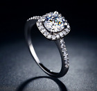 Paved Halo Platinum Plated Cubic Zirconia Ring image