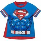 Внешний вид - Warner Bros. Superman Toddler Boys' T-shirt with Cape, Blue