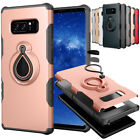 Magnet Ring Stand Shockproof Rubber Bumper Case Cover For Samsung Galaxy Note 8