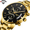 2018 NIBOSI Gold Quartz Watch Top Brand Luxury Men Watches Fashion Man