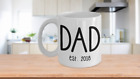 gift for expecting dad - New Dad Mug Established 2018 Birth Announcement Gift For Expecting Parents