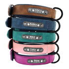 Personalized Dog Collar Soft Leather Collar Free Engraved ID Tag for Pets S-XL