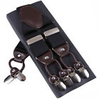 Elegant Fashion Suspenders Classic Men's Accessories 6 Clips Braces Pants Strap