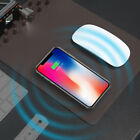 Qi Wireless Charger Desktop Organizer Mouse Pad for Samsung S8 Note iPhone 8 Plu