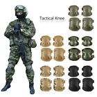 4Pcs Adjustable Airsoft Tactical Combat Protective Knee Elbow Pad Protector Gear