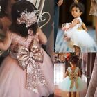 Infant Baby Kid Girl Birthday Wedding Pageant Party Princess Lace Bow Tutu Dress