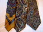 #72 Lot of 3 Designer100% PAISLEY SILK TIES Bill Blass Benson &Rixon Silk Accent