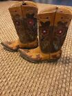 Old Gringo Golondrita Buttercup Women Cowbo Boots Brown Hearts and Birds