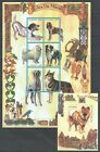 N702 1999 MOCAMBIQUE FAUNA PETS DOGS CAES DO MUNDO 1KB+1BL MNH