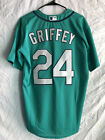 NWT Ken Griffey Jr. #24 Seattle Mariners Baseball Jersey Green