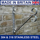 Hanging basket brackets stainless steel up to 16 inch basket never rust