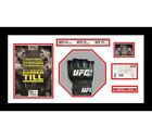 1x Signed UFC or MMA Glove Mitts in Octagon 3D Design Box Frame - White Mount for sale  Bradford