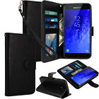 For Samsung Galaxy J7 Crown / J7 Refine Star Top Aura Leather Wallet Case Cover