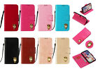 YB 3D Owl Leather Wallet Card Case Cover For Moto Sony L1 L2 XA2 Samsung S8 9 J2