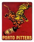 Porto Pitters Vintage Heavy Steel 12 X 18 Sign