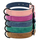 Leather Dog Collar Padded Adjustable Stitched Edges Strong D Ring Dog S M L XL