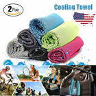 2 Pack Ice Cold Instant Cooling Towel Running Jogging Gym Chilly Pad Sports Yoga image