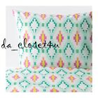 IKEA Sommar 2017 Duvet Cover Summer Quilt Cover with pillowcase White Turquoise
