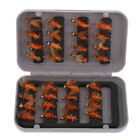 32Pcs/Box Artificial Feather Insects Flies Fly Fihsing Hooks Dry Flies Lures