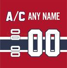 Montreal Canadiens Home Jersey Customized Number Kit un-stitched on eBay
