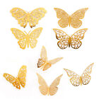 Внешний вид - 12PCS 3D Hollow Butterfly Wall Stickers Art Decal Home Gold Fashion Door Decor