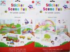 Reusable Sticker Book Princess Fairies Digger Travel Car Boys Girls Kids Fun Toy