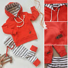 US Newborn Kids Baby Boy Girl Outfits Clothes Romper Jumpsuit Bodysuit+ Pants Set