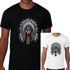 Mens T-Shirt Indian Native American TEE Chief Honor Tribal Biker Top Moto S-3XL image