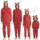 Family Matching Christmas Pajamas Set Mom Dad Kids Deer Sleepwear Nightwear Zip