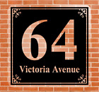 Door Number Fanlight Victorian Square Frosted Glass Traditional House Number