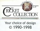 The Cricket Collection VICKI HASTINGS designs ©1990-1998, your choice of leaflet