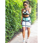 KIM KARDASHIAN INSPIRED BANDAGE BODYCON COCKTAIL PARTY DRESS 2PC SKIRT CROP TOP