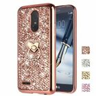 For LG Stylo 3 Plus LS777 Bling Glitter Protective Case Cover with Ring Stand