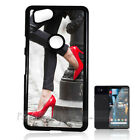 ( For Google Pixel 2 XL ) Back Case Cover P10622 Red Shoe
