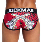 Jockmail Mens Comic Print Briefs Jockstrap String Underwear Thong Shorts Pants