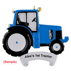 MAXORA Blue Tractor Personalized Christmas Ornaments Home Decoration