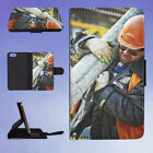 BUILD BUILDER CONSTRUCTION EQUIPMENT FLIP WALLET CASE FOR APPLE IPHONE PHONES