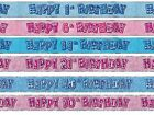BLUE GLITZ 13-60 AGED BIRTHDAY 9FT FOIL BANNER PARTY DECORATION!
