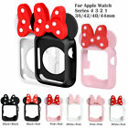 New Protector Case Minnie Mouse Silicone Gel Cover For AppleWatch Series 4 3 2 1