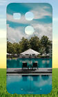 LOUNGE CHAIR SWIMMING POOL BLUE SKY HARD BACK CASE COVER FOR NEXUS PHONES