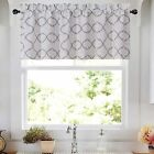 Regal Home Collections Trellis Lattice Rod Pocket Valance - Assorted Colors