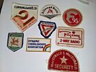 8 Vintage patches YMCA, Allmand Boats, Regency Radio, Dynamic Cheerleaders, etc
