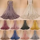 Women Solid Soft Long Neck Large Scarf Wrap Shawl Stole Scarve Head Hijab Lot