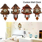 4 Style Antique Cuckoo Wall Clock Bird Time Bell Wooden Swing Alarm Watch Decor