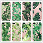 New Luxury Green Leaves TPU Soft Cover Case for Apple Iphone 6 7 8 X