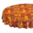 Falling Leaves Blessings Vinyl Table Cover, Drop Style with Soft Backing image