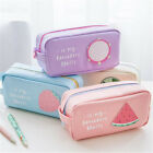 US Cute Fruit Student Kids Pen Bag Pencil Case Travel Cosmet